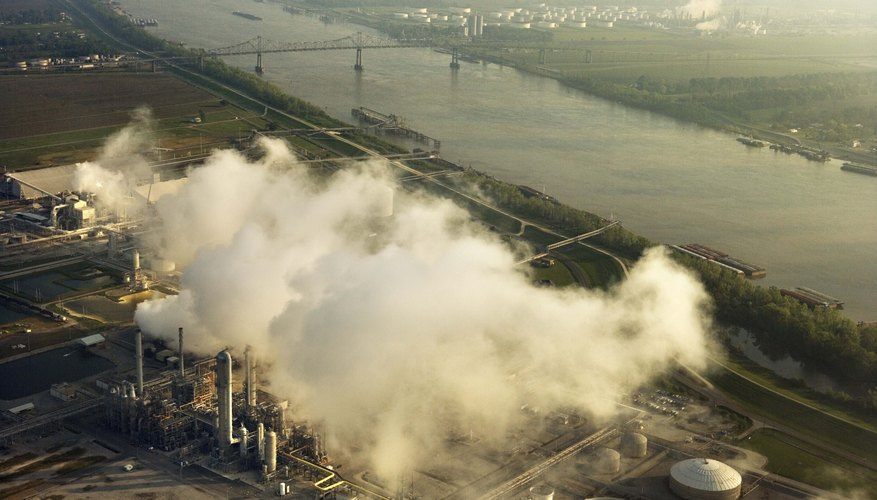 Power plants and industries generate pollution that results in acid rain.