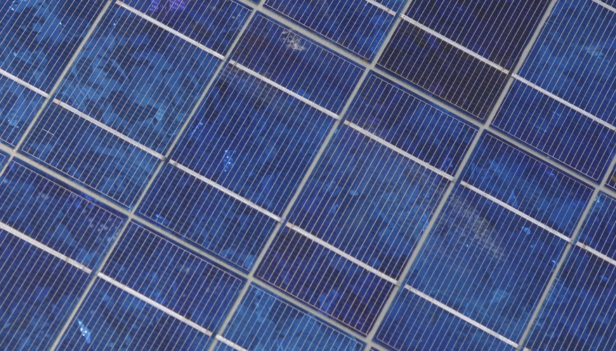 A solar panel consists of a large number of individual cells.
