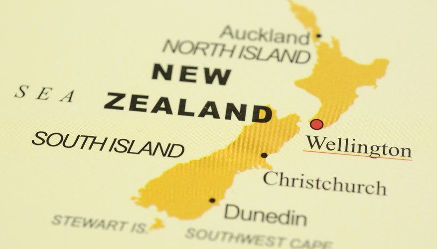 Map of New Zealand