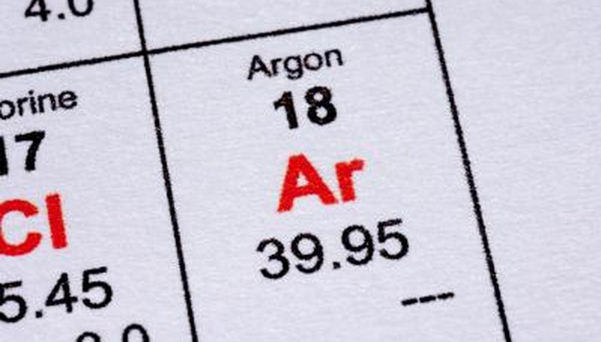 Argon varies in purity.