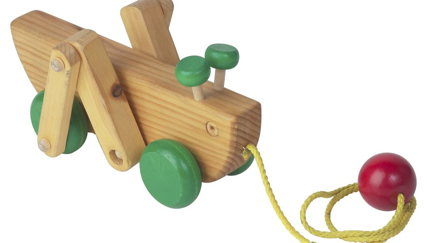 Pull toys can be simple or complex, depending on their design.