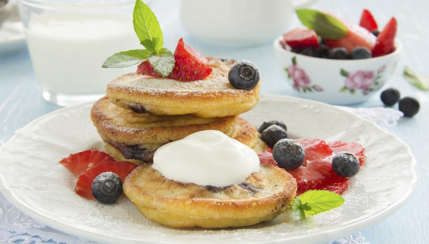 whole wheat mini pancakes