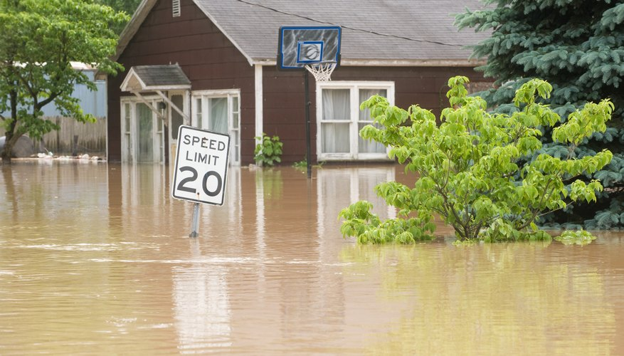 Exceedance probability helps to determine the risk of flooding.