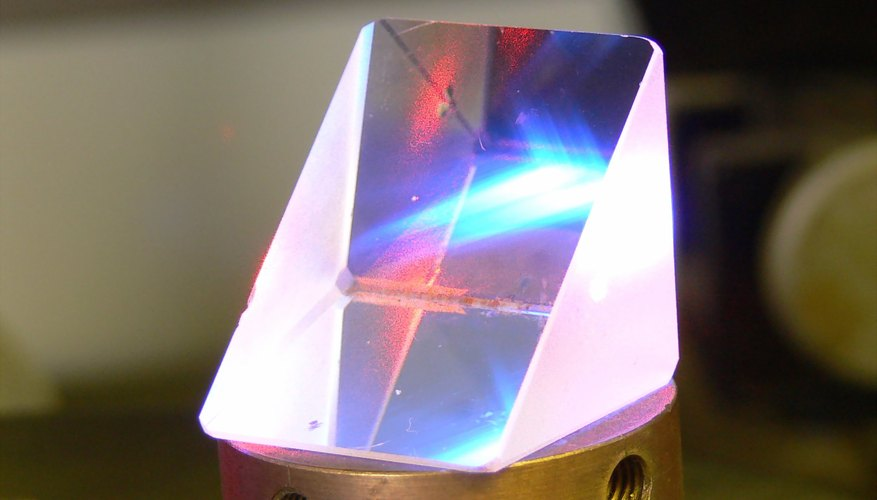 A prism being used in a laboratory.
