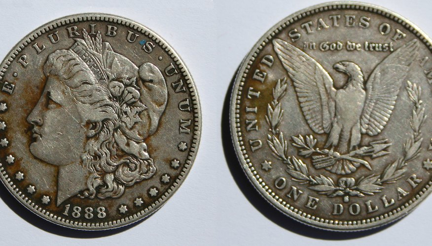 Morgan silver dollars were minted between 1878 and 1903, then again in 1921.