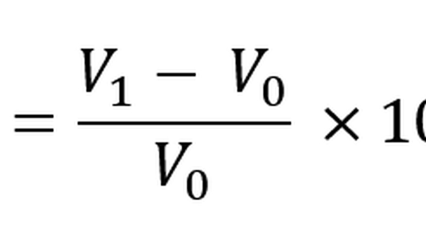 The straight-line percent change formula