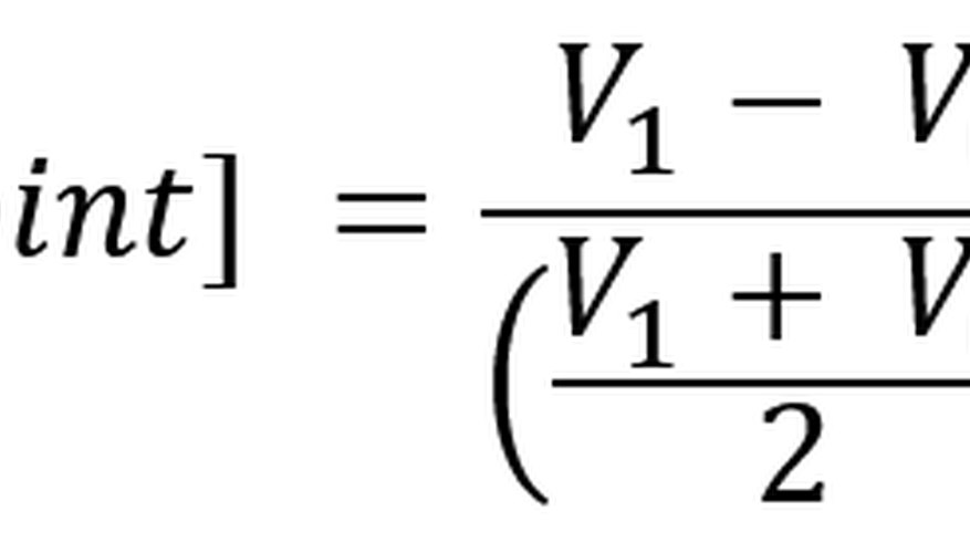 The midpoint percent change formula