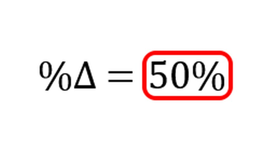 Multiplying by 100 converts the rate of change to a percentage.