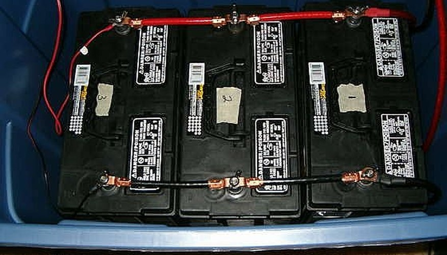 Connected batteries in the battery bank