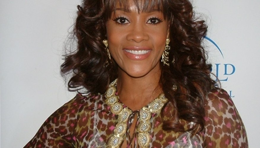 Vivica Fox has beautiful tresses as a result of relaxed hair.
