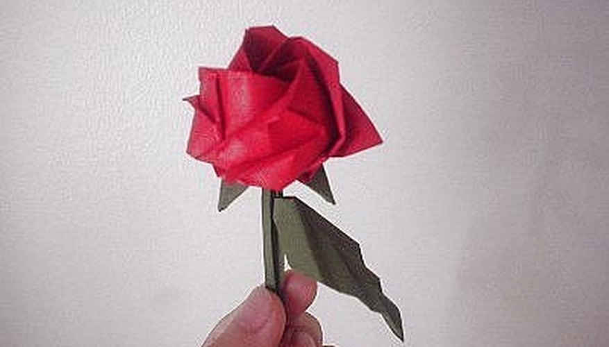 how to create a rose oragami