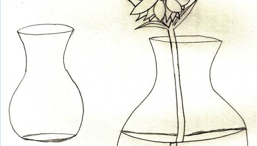 How To Draw Flowers In A Vase Our Pastimes