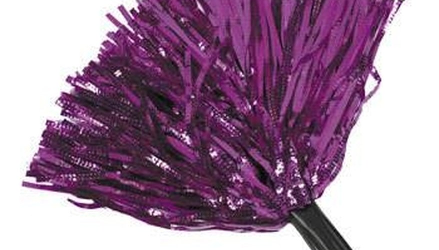 Purple Metallic Cheerleading Pom-Pom