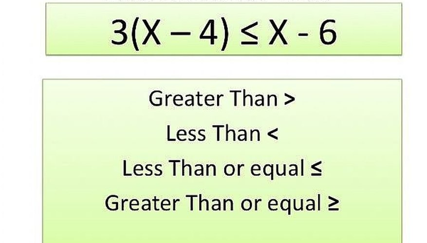 How to Solve Inequalities   Sciencing