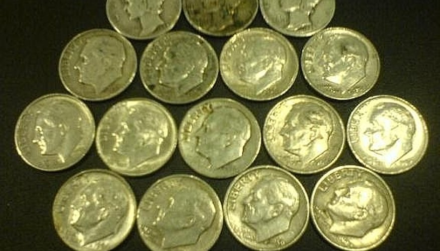 Silver coins found in 7 boxes of dimes (17,500)