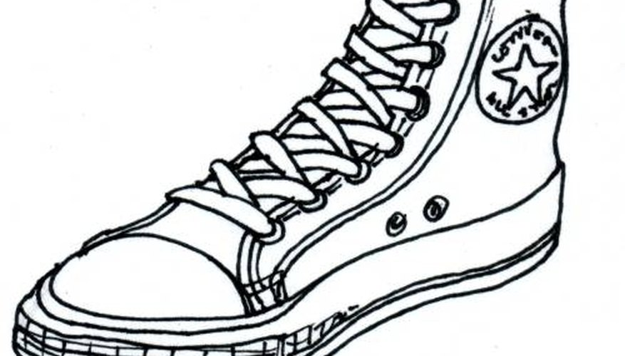 How to Draw Converse Shoes | Our Pastimes