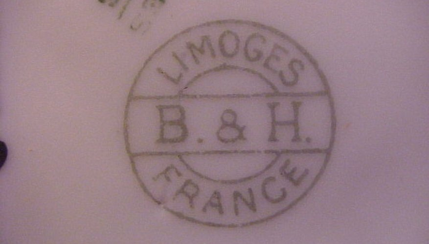 A Limoges china mark varies by company and date.