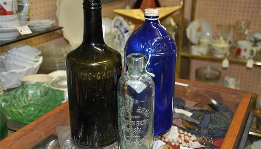 Antique bottles from the early 1900s.