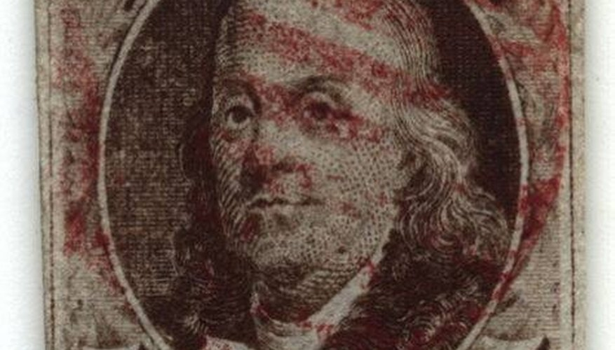 This 1847 Ben Franklin stamp is considered valuable in mint condition.