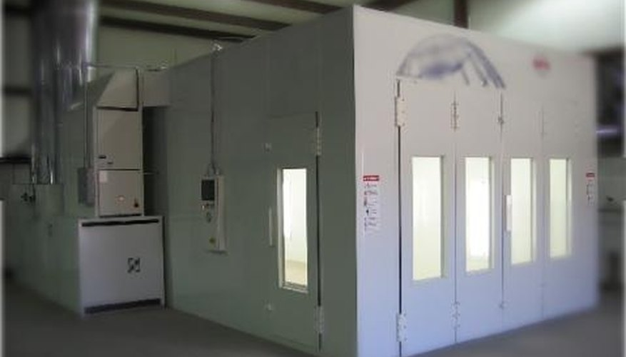 Prefab paint booths are the best choice for novices.