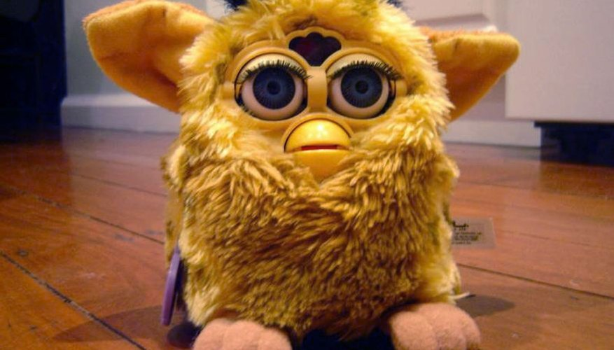 A battery-operated Furby toy.