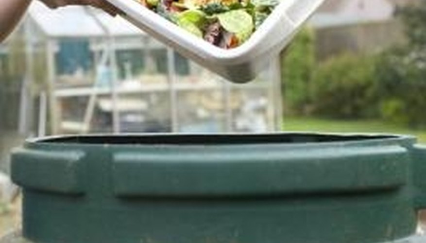 Once you set up your composting bin, adding kitchen scraps becomes an easy routine.