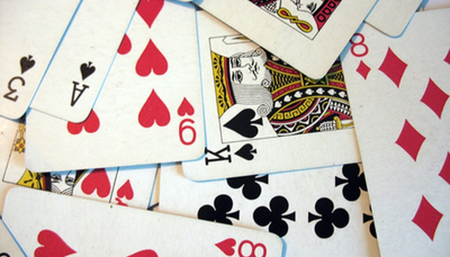 The Double Speed card game uses a regular deck of cards.