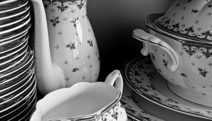 Many older dinnerware patterns use delicate floral designs.