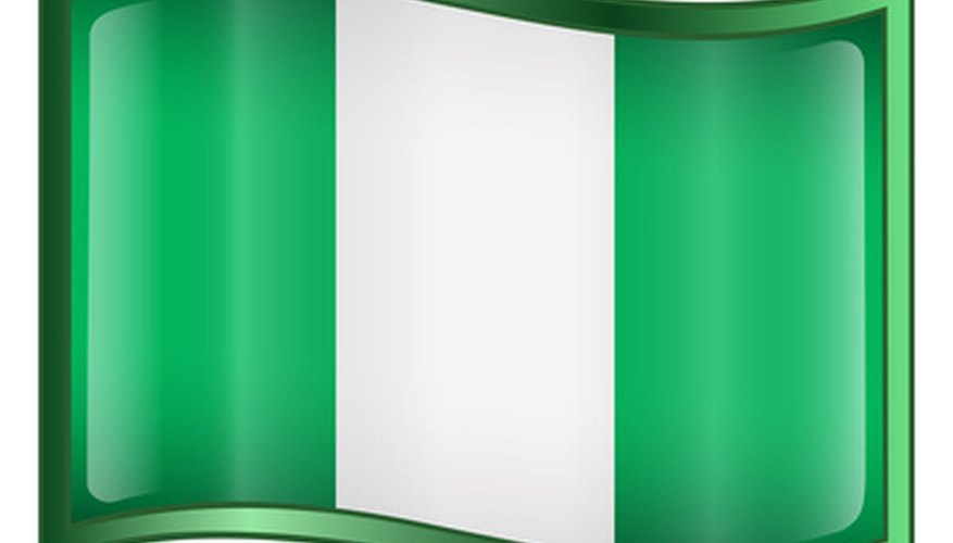The Nigerian Flag is green and white.