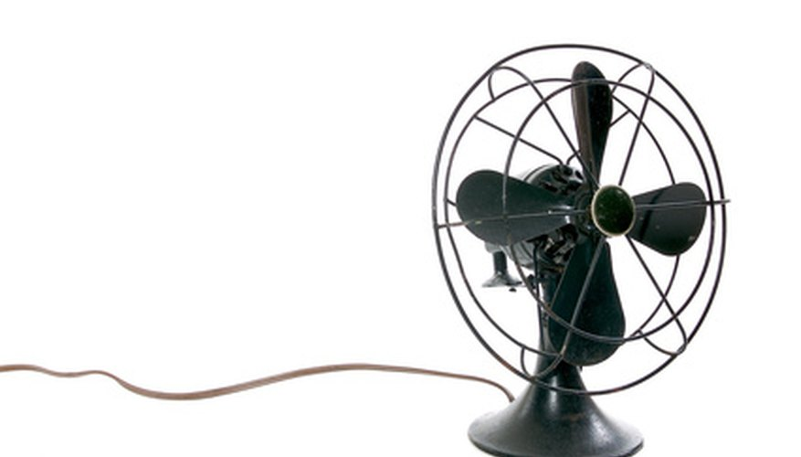 The first electric fan appeared in the early 1880s.
