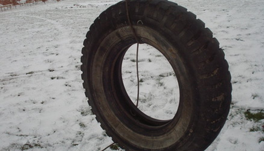 No matter the year, a tire swing represents fun.