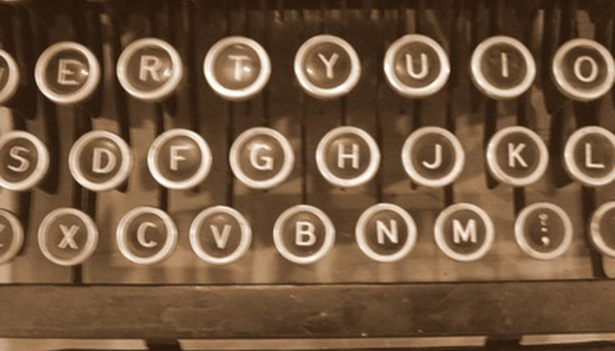 Most typewriters use the QWERTY letter arrangement now well known on keyboards.