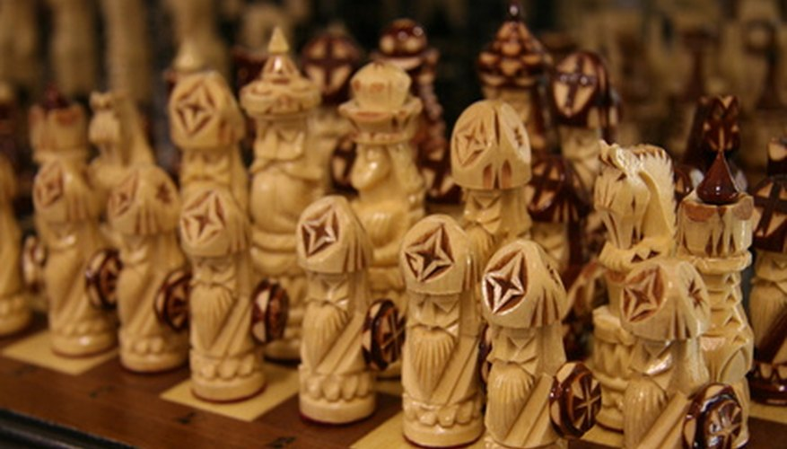 There is no need to spend money on a real chess set when you can make your own for free.