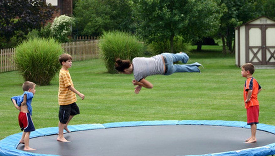 As a science project, you can see how weight impacts bounce height on a trampoline.