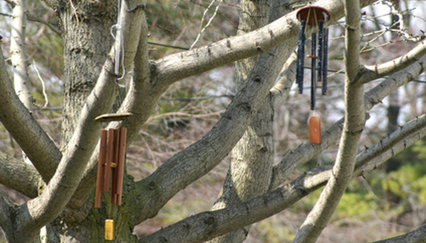 Bamboo wind chimes can create a zen-like environment.