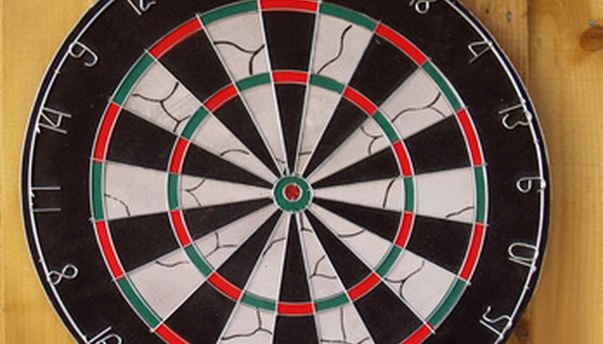 Each numbered wedge scores double points for darts in the outer ring.