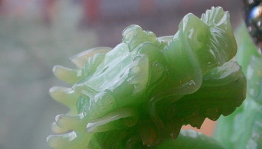Jade is formed deep in the earth under extreme pressures.