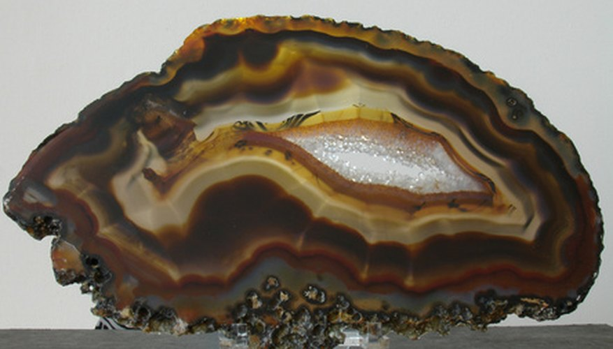 Agate is known for its banding patterns.