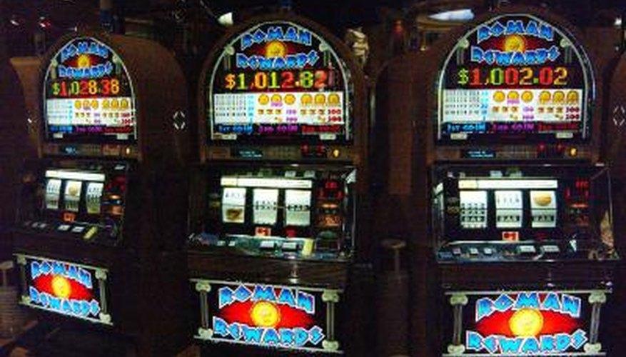 Three similar slot machines