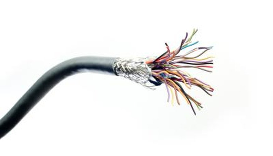 Twisted pair cables are flexible and easy to install.