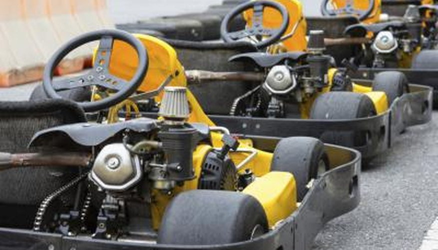 Lawnmower engines can be used to power go-karts.