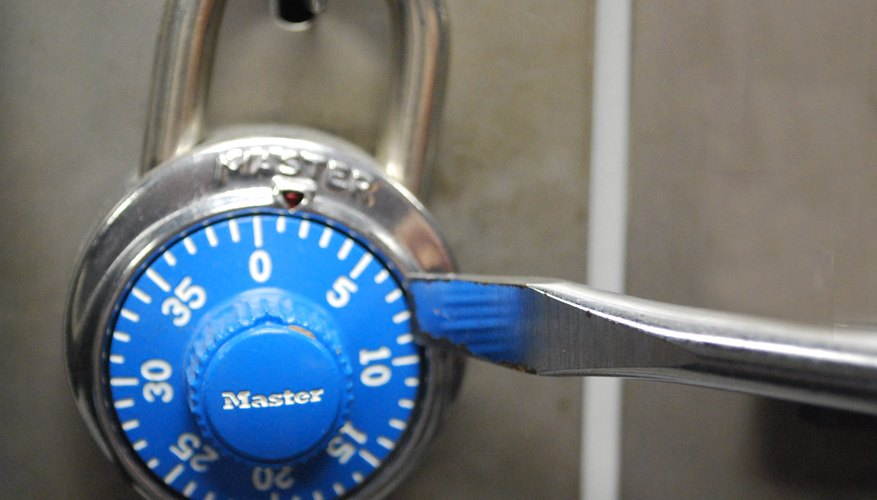 how to open a master lock without the combination