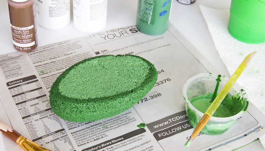 Paint On Green Membrane