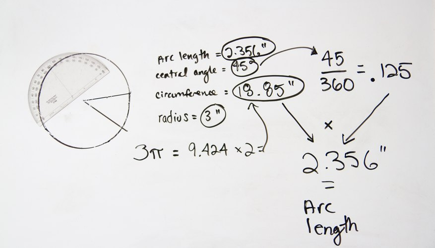 arc length and angle relationship problems