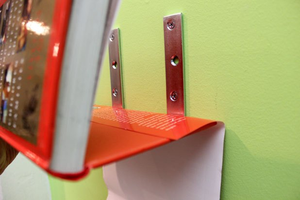 how to build a floating bookshelf in 9 easy steps ehow Floating Wall Shelves build your own wall mounted bookshelves