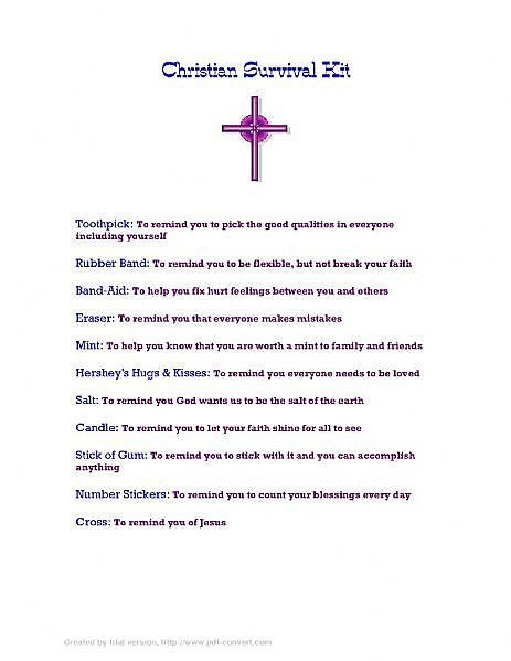 How To Make A Christian Survival Kit Ehow