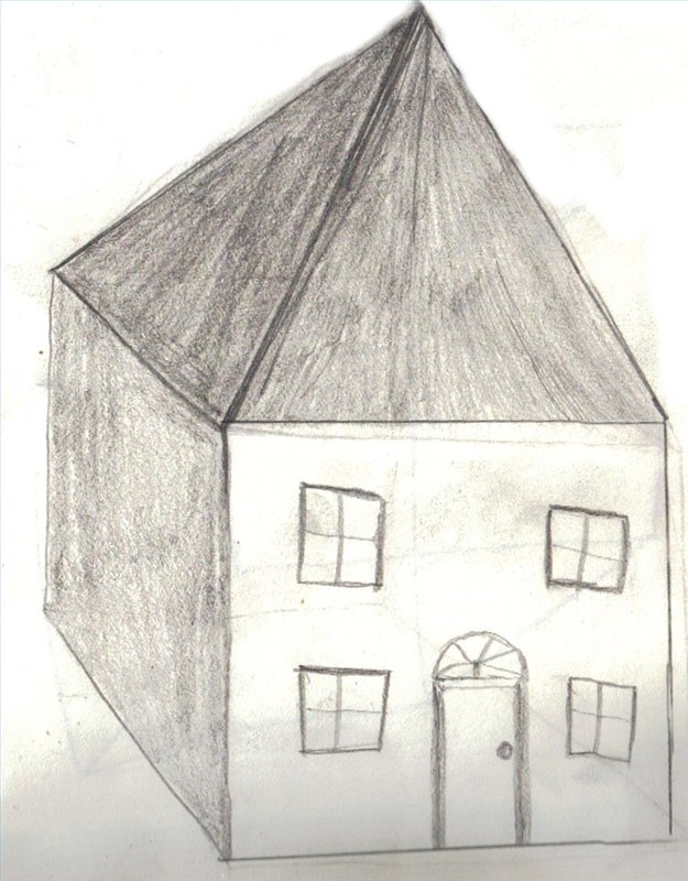 How To Draw A 3d House With Pictures Ehow