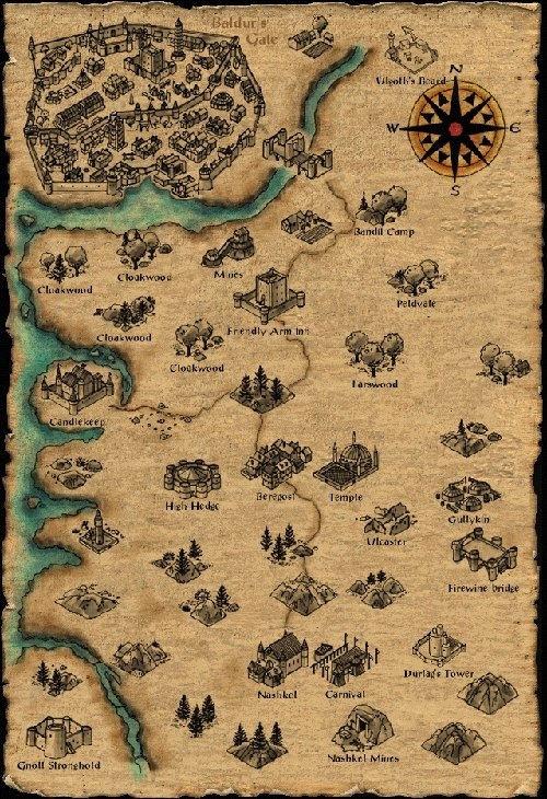 Map of the Sword Coast