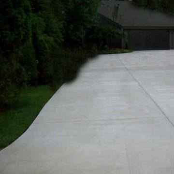 What is the thickness of a concrete driveway ehow for Temperature to pour concrete driveway