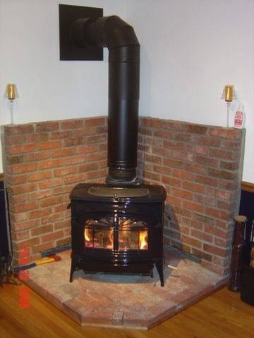 Wood stove surrounds made out of brick are economical